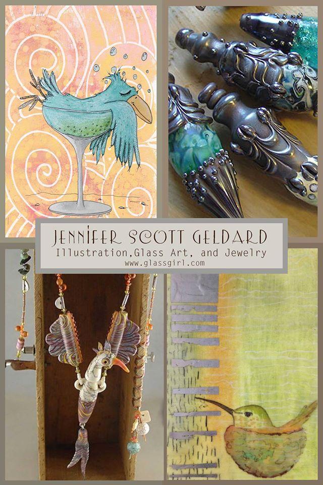 Jennifer Scott Geldard's illustrations and beads