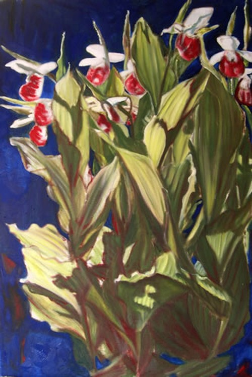 "painting entitled ""lady slippers"""